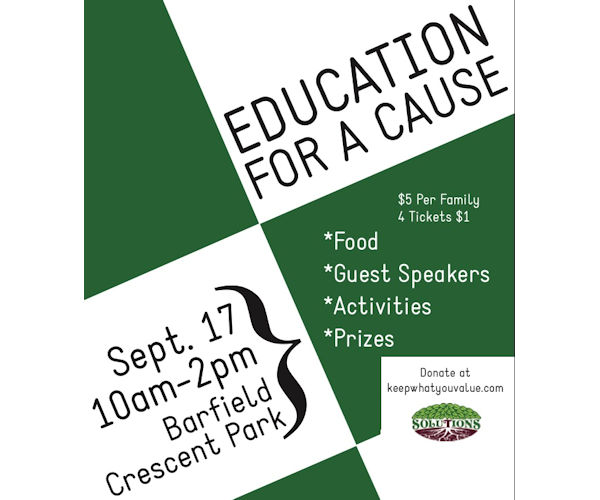 Join Us At Education For A Cause